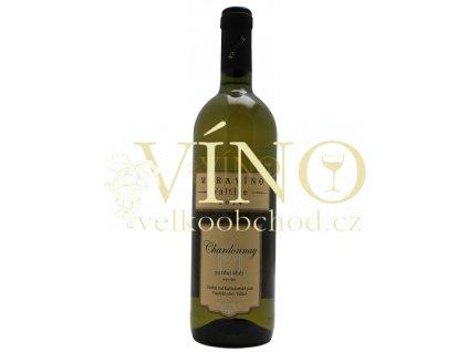 Moravíno Chardonnay 2017 pozdní sběr 0,75 l suché bílé víno