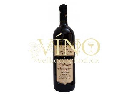 Víno Moravíno Cabernet Sauvignon 2017 pozdní sběr 0,75 l suché moravské červené