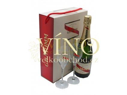 Akce ihned Champagne Mumm Cordon Rouge Brut 0,75 l in giftbox se 2mi skleničkami