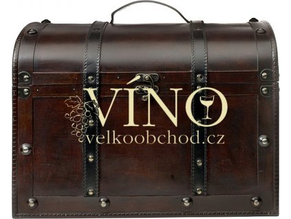 MAXI Dárková dřevěná truhla na víno - 9-12 lahví