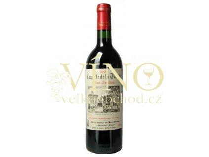 Chateau Trotte Vieille Chapelle de la Trinité AOC 0,75 L suché francouzské červené víno z Bordeaux Saint-Emilion