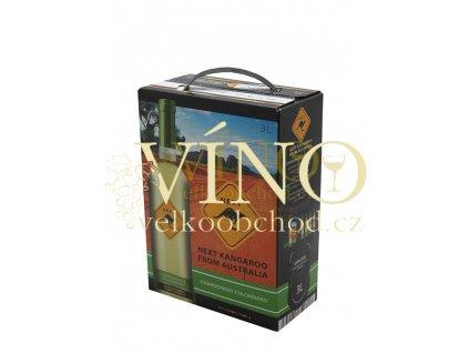 Víno Next Kangaroo Chardonnay Colombard 3 l suché australské víno bag in box BIB