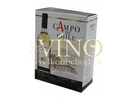 Campo de Chile Sauvignon Blanc 3 l suché chilské bílé víno bag in box 3 l