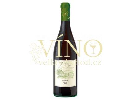 Gotberg Pálava 2014 pozdní sběr 0,75 L polosuché moravské bílé víno