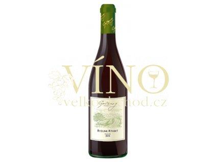 Gotberg Ryzlink rýnský 2014 pozdní sběr 0,75 L suché moravské bílé víno