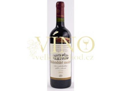 Rodinné vinařství Jedlička Bořetice Rulandské modré 2016 pozdní sběr 0,75 L suché moravské červené víno