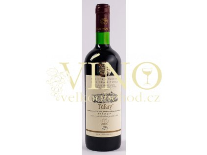 Rodinné vinařství Jedlička Bořetice Cuvée Tůfary 2007 (CSG+VAV+Merlot) pozdní sběr 0,75 L suché moravské červené víno BARRIQUE