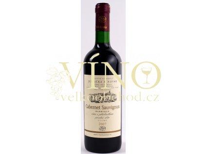Rodinné vinařství Jedlička Bořetice Cabernet Sauvignon 2007 pozdní sběr 0,75 L suché moravské červené víno BARRIQUE