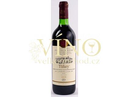 Rodinné vinařství Jedlička Bořetice Cuvée Tůfary 2008 (CSG+VAV+Merlot) pozdní sběr 0,75 L suché moravské červené víno