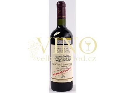 Rodinné vinařství Jedlička Bořetice Cabernet Sauvignon 2009 výběr z hroznů 0,75 L suché moravské červené víno BARRIQUE Rodinná Rezerva