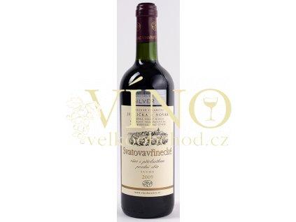 Rodinné vinařství Jedlička Bořetice Svatovavřinecké 2009 pozdní sběr 0,75 L suché moravské červené víno