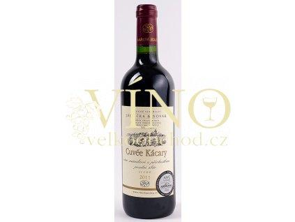 Rodinné vinařství Jedlička Bořetice Cuvée Kácary 2011 (RM+VAV+André) pozdní sběr 0,75 L suché moravské červené víno
