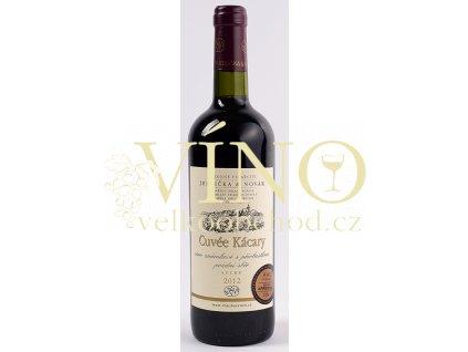 Rodinné vinařství Jedlička Bořetice Cuvée Kácary 2012 (RM+VAV+André) pozdní sběr 0,75 L suché moravské červené víno