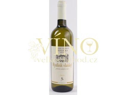 Rodinné vinařství Jedlička Bořetice Ryzlink vlašský 2014 jakostní 0,75 L suché moravské bílé víno