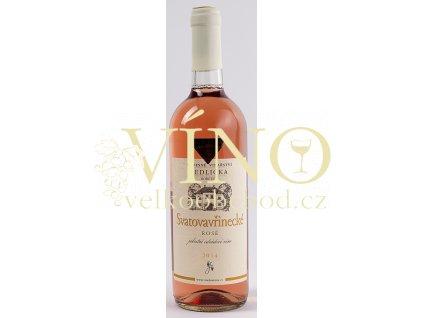 Rodinné vinařství Jedlička Bořetice Svatovavřinecké rosé 2014 jakostní 0,75 L polosuché moravské růžové víno