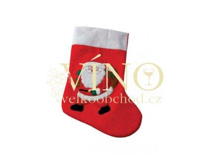 EMBROIDERED SANTA SOCK MB9515, vánoční punčocha - doprodej