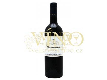 Baron Phillippe de Rothschild Bordeaux Rouge BPHR 2012 0,75 L francouzské červené víno z oblasti Bordeaux