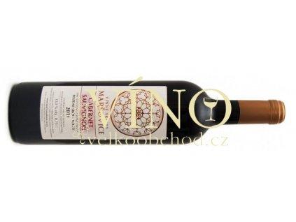 Akce ihned Vinné sklepy Maršovice Cabernet Sauvignon 2011 pozdní sběr 0,75 l suché červené víno