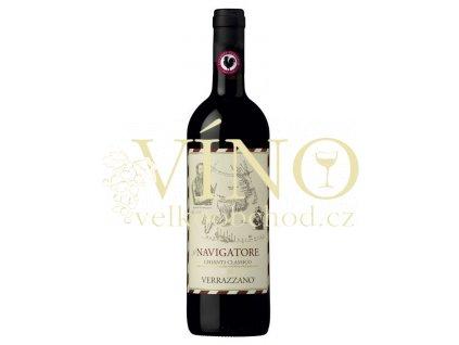 Castello di Verrazzano Chianti Classico DOCG Il Navigatore 2016 0,75 l italské červené víno z oblasti Toscana