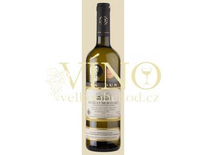 Baloun Muškát moravský 2017 kabinet 0,75 l suché moravské bílé víno 17043