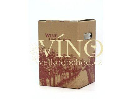 Vinařství pod Hradem Chardonnay 5 L polosladké italské bílé víno bag in box