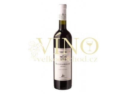 Vinné sklepy Valtice Svatovavřinecké jakostní 0,75 l suché červené víno