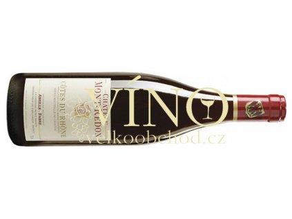 Akce ihned Cotes du Rhone rouge 2014 Mont Redon 0,75 L suché francouzské červené víno  z oblasti Vallée du rhone
