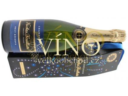 Akce ihned víno Champagne Nicolas Feuillatte Brut Reserve 0,75 l in festive giftbox