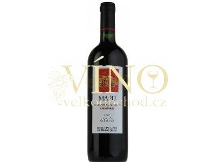 Baron Philippe de Rothschild Mapu Cabernet/ Carmenere 2013 0,75 L chilské červené víno z oblasti Maipo Valley