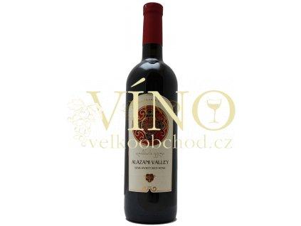 GSG Alazani valley 0,75 l gruzínské červené polosladke víno