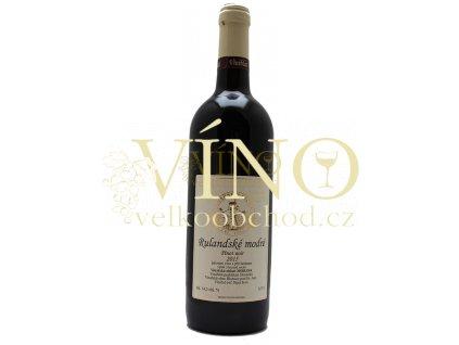 Vinařství Antonín Cícha Rulandské modré 2016 výběr z hroznů 0,75 l suché moravské červené víno