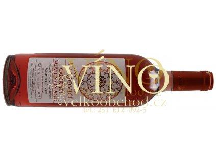 Akce ihned Vinné sklepy Maršovice Cabernet Sauvignon Rosé 2016 zemské 0,75 l polosuché růžové víno