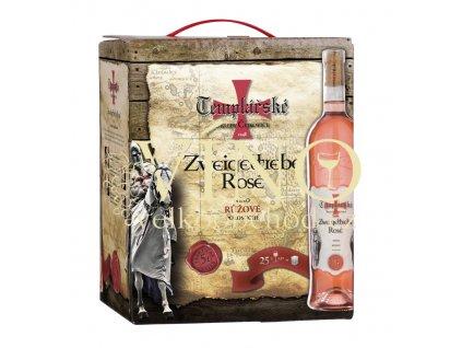 Templářské sklepy Zweigeltrebe rosé bag in box 5 l růžové víno v BIB