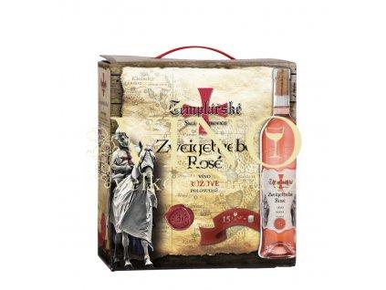Templářské sklepy Zweigeltrebe rosé BIB - Bag in box 3 l růžové víno