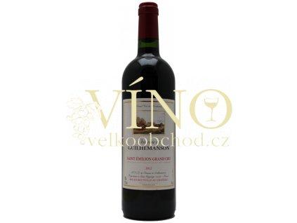 Chateau de Guilhemanson Grand Cru 2012 0,75 l suché francouzské červené víno ze Saint-Emilion
