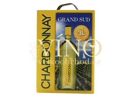 Víno Grand Sud Chardonnay 3 l suché francouzské bílé bag in box