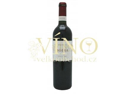 Boira Sangiovese barrique BIO IGT 0,75 L suché italské červené víno z Marche