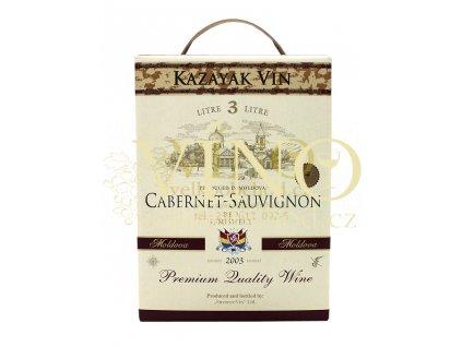 Akce ihned víno Kazayak Vin Cabernet Sauvignon BIB 3 l moldavské červené bag in box