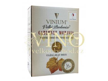 Vinium Cabernet Moravia BIB 5 l červené víno bag in box