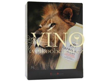 Víno African Winery Chardonnay 3 l africké bílé bag in box BIB