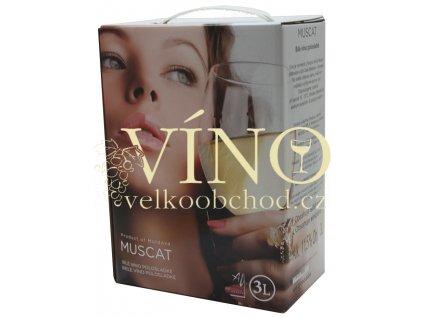 Víno Muscat 3 l BIB polosladké moldavské bílé bag in box Aurvin DK-Intertrade