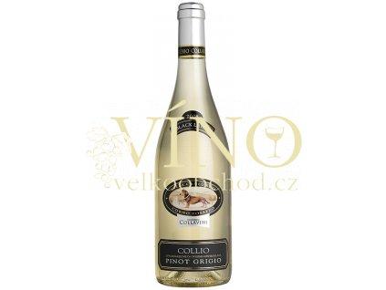 Eugenio Collavini Pinot Grigio Villa Canlungo Black Label Collio DOC italské bílé víno z oblasti Friuli