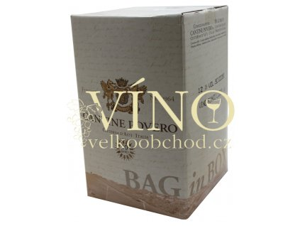 Víno Cantine Povero Cortese BIB 10 l bílé italské bag in box