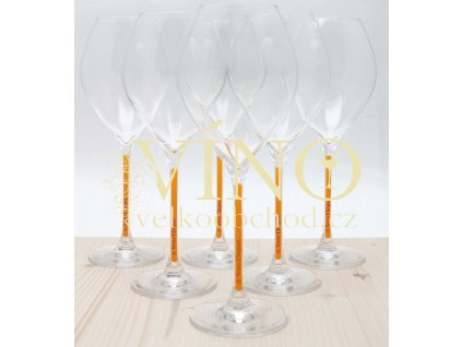 Akce ihned Skleničky Veuve Clicquot pro šampaňské cena za balení 6 ks skleniček