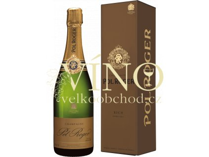 champagne Pol Roger Rich Demi-Sec v dárkové krabičce 0,75 l francouzské šampaňské
