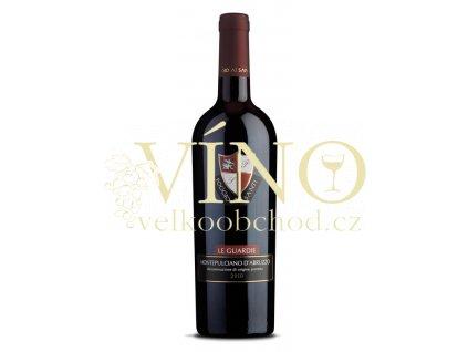 Poggio ai Santi Montepulciano d`Abruzzo Le Guardie DOC 0,75 l suché italské červené víno z Abruzzo