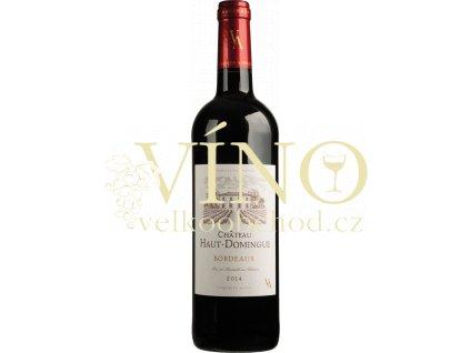 Château Haut Domingue Bordeaux rouge AOC 0,75 L suché francouzské červené víno