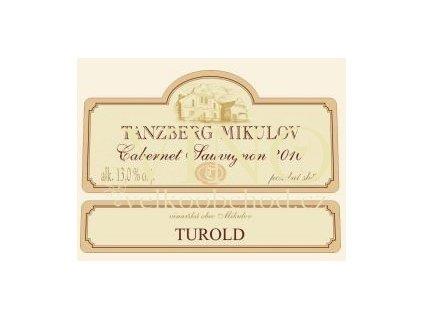 Akce ihned Tanzberg Cabernet Sauvignon 2010 pozdní sběr 0,75 L suché moravské červené víno