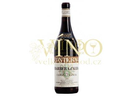 Conterno Giacomo Barbera d´Alba Cascina Francia DOC 2016 0,75 l italské červené víno z oblasti Piemonte