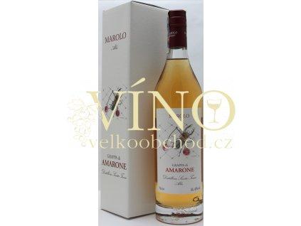 Distilleria Marolo Grappa di Amarone Riserva 0,7 l 44% italská grappa z Piemonte + dárková krabička